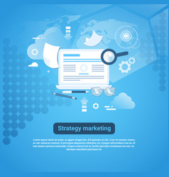 strategy marketing web banner with copy space on vector image vector image