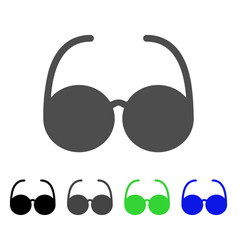 Sun glasses flat icon vector