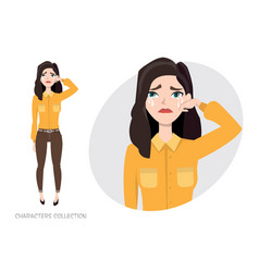 woman crying vector image vector image
