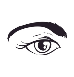Female eye icon view and look design vector