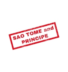Sao Tome And Principe Rubber Stamp vector image