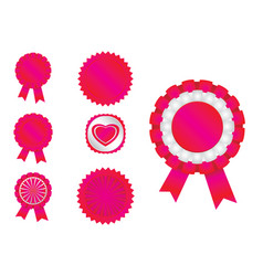 ribbon red vector image