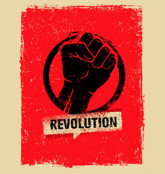 Revolution socialprotest creative grunge vector