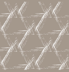 white grunge pyramids on a beige background vector image