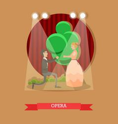 flat of opera singers vector image