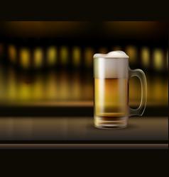 mug ogf beer vector image