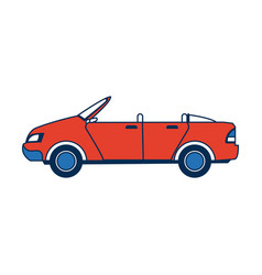 Convertible car sport vehicle transport vector