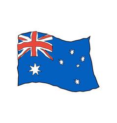 Australia flag in grunge style australian vector