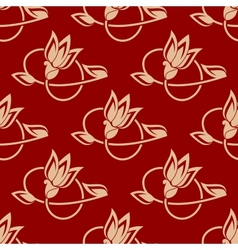 Repeat floral pattern in a seamless design vector