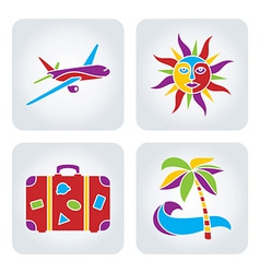 Vacation set 2 vector image