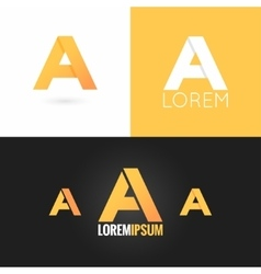 Letter a logo design icon set background vector