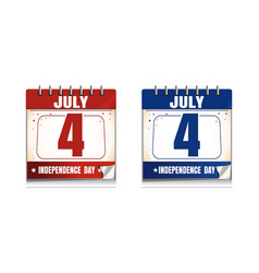 4th of july calendar icon set us independence day vector image