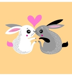 Bunnies lovers vector