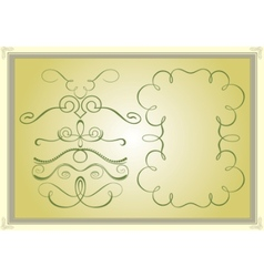 calligraphy designs vector image