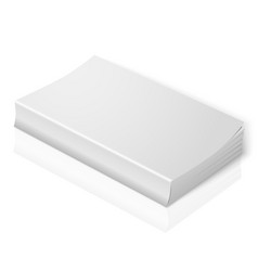 Realistic blank softcover book isolated on white vector