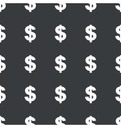 Straight black dollar pattern vector