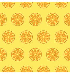 Pattern with oranges over light orange backdrop vector