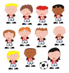 soccer team vector image