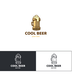 Beer logo six vector