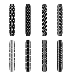 Bikes tire tracks vector