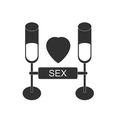 Black icon on white background sex and cocktails vector