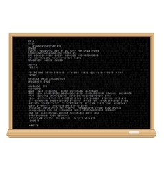blackboard white code vector image