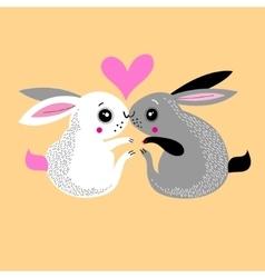 Bunnies lovers vector