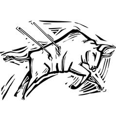Charging bull vector
