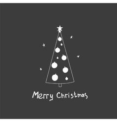 Christmas postcard with fir trees vector image vector image