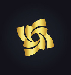 Circle gold spin logo vector