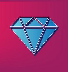 Diamond sign blue 3d printed vector