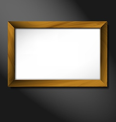 empty wooden frame vector image
