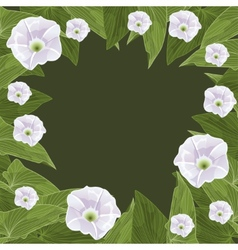 Floral frame in the shape of a circle vector image