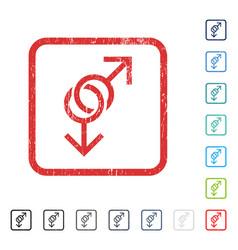 Gay love symbol icon rubber watermark vector