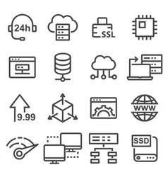 hosting icon database symbol vector image vector image