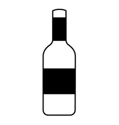 isolated bottle of wine vector image vector image
