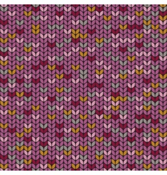 Knitted melange seamless pattern knitting craft vector