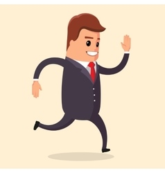 manager character run vector image vector image