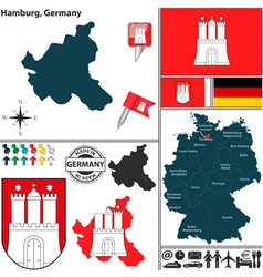 Map of hamburg vector