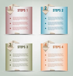 Modern origami colored steps background vector