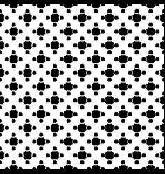 Monochrome seamless pattern with rounded octagons vector