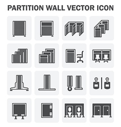 Partition icon vector image