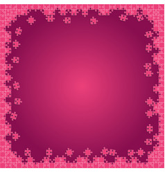 Pink transparent puzzles pieces - jigsaw vector