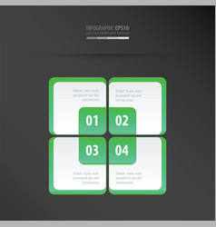Rectangle presentation template neon green vector