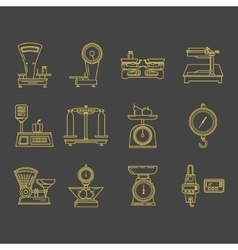 Set icons commercial scales vector