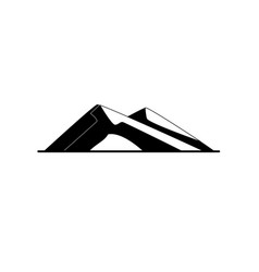 Sloping hills silhouette icon in flat style vector