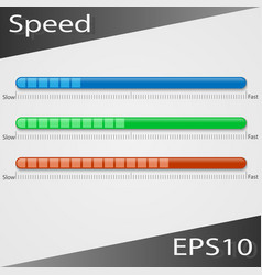 Speed status bar vector