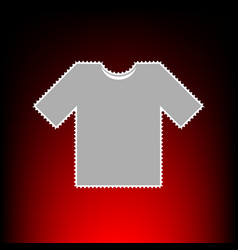 t-shirt sign postage stamp or old vector image vector image