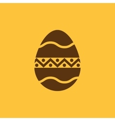 The egg icon Easter egg symbol UI Web Logo vector image vector image
