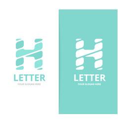 unique letter h logo design template vector image